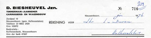 NN_BIESHEUVEL_003 Nieuwenhoorn, Biesheuvel - D. Biesheuvel Jzn., Timmerman-Aannemer carrosserie- en wagenbouw, (1974)