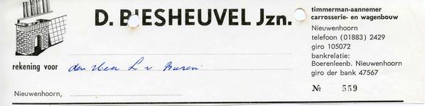 NN_BIESHEUVEL_004 Nieuwenhoorn, Biesheuvel - D. Biesheuvel Jzn., Timmerman-Aannemer carrosserie- en wagenbouw