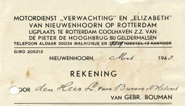 NN_BOUMAN_002 Nieuwenhoorn, Bouman - Gebr. Bouman, Motordienst Verwachting en Elizabeth van Nieuwenhoorn op Rotterdam. ...