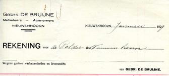 NN_BRUIJNE_002 Nieuwenhoorn, De Bruijne - Gebrs. De Bruijne, Metselaars - Aannemers , (1929)