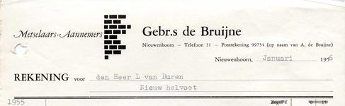 NN_BRUIJNE_005 Nieuwenhoorn, De Bruijne - Gebrs. de Bruijne, Metselaars - Aannemers, (1956)