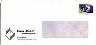 NN_HOUWELING_001 Nieuwenhoorn, Ro-Ad - Firma Ro-Ad, aannemingsbedrijf R. Houweling (ENVELOPPE), (1988)