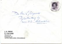 NN_PRINS_001 Nieuwenhoorn, Prins - J.K. Prins, P. van Dijk, Dierenartsen (ENVELOPPE), (1983)