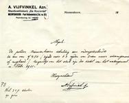 NN_VIJFVINKEL_002 Nieuwenhoorn, Vijfvinkel - A. Vijfvinkel Azn., Stamboekfokkerij De Kooistee , (1931)