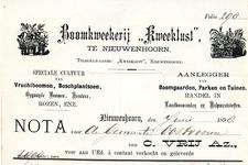 NN_VRIJ_002 Nieuwenhoorn, Vrij - Boomkweekerij Kweeklust , C. Vrij Az., Speciale cultuur van vruchtboomen, ...