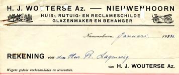 NN_WOUTERSE_001 Nieuwenhoorn, Wouterse - H.J. Wouterse Az., Huis-, ruituig- en reclameschilder. Glazenmaker en ...