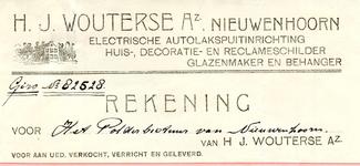 NN_WOUTERSE_002 Nieuwenhoorn, Wouterse - H.J. Wouterse Az., Electrische autolakspuitinrichting. Huis-, Decoratie- en ...
