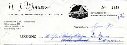 NN_WOUTERSE_004 Nieuwenhoorn, Wouterse - H.J. Wouterse, Schilders- en behangersbedrijf. Glaszetten enz. Autolakken en ...
