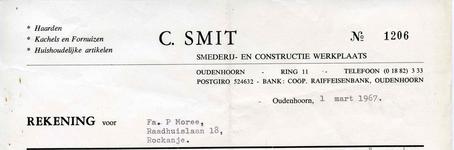 OH_SMIT_001 Oudenhoorn, Smit - Smederij- en constructie werkplaats C. Smit. Haarden. Kachels en fornuizen. ...