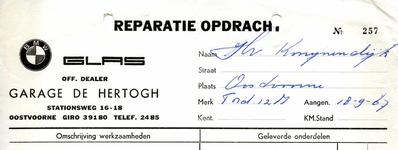 OV_HERTOGH_001 Oostvoorne, De Hertogh - BMW Garage De Hertogh. Officieel dealer, (1967)