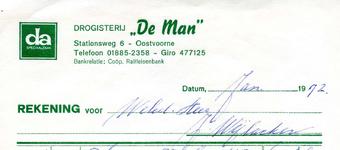 OV_MAN_004 Oostvoorne, De Man - Drogisterij De Man , DA speciaalzaak, (1972)