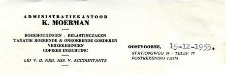 OV_MOERMAN_009 Oostvoorne, Moerman - K. Moerman, Administratiekantoor. Boekhoudingen, belastingzaken, taxatie roerende ...