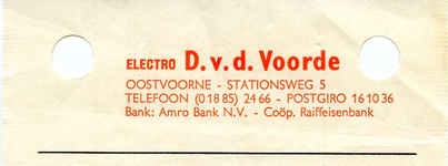 OV_VOORDE_006 Oostvoorne, V.d. Voorde - Electro D. v.d. Voorde, (1973)