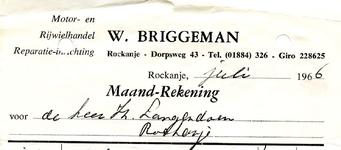 RO_BRIGGEMAN_002 Rockanje, Briggeman - Motor- en rijwielhandel. Reparatie-inrichting W. Briggeman, (1966)