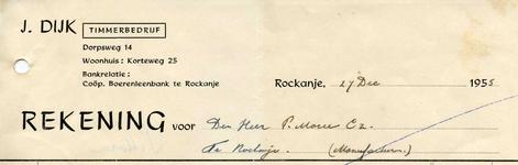 RO_DIJK_005 Rockanje, Dijk - J. Dijk, Timmerbedrijf, (1955)