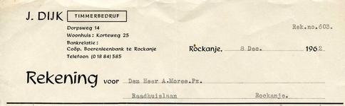 RO_DIJK_006 Rockanje, Dijk - J. Dijk, Timmerbedrijf, (1962)