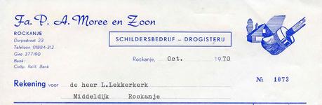 RO_MOREE_014 Rockanje, Moree - Fa. P. A. Moree en Zoon, Schildersbedrijf - Drogisterij, (1970)