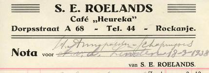 RO_ROELANDS_001 Rockanje, Roelands - S.E. Roelands, Café Heureka , (1938)