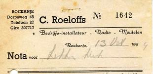 RO_ROELOFFS_005 Rockanje, Roeloffs - Bedrijfs-installateur, Radio. Meubelen, C. Roeloffs, (1954)