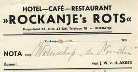 RO_ROTS_001 Rockanje, V.d. Akker - Hotel-Café-Restaurant Rockanje's Rots , J.W. v.d. Akker, (1939)