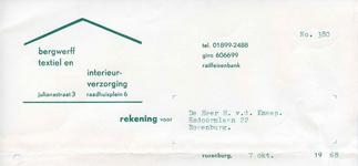 RZ_BERGWERFF_002 Rozenburg, Bergwerff - Bergwerff textiel en interieurverzorging, (1968)