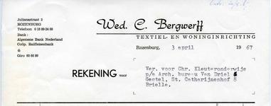 RZ_BERGWERFF_003 Rozenburg, Bergwerff - Wed. C. Bergwerff, Textiel- en woninginrichting, (1967)