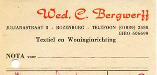 RZ_BERGWERFF_004 Rozenburg, Bergwerff - Wed. C. Bergwerff, Textiel en Woninginrichting, (1968)