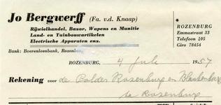 RZ_BERGWERFF_005 Rozenburg, Bergwerff - Jo Bergwerff (Fa. v.d. Knaap), Rijwielhandel, Bazar, Wapens en Munitie, Land- ...