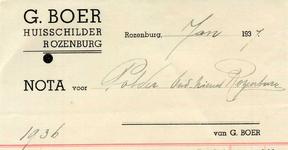 RZ_BOER_001 Rozenburg, Boer - G. Boer, Huisschilder, (1937)