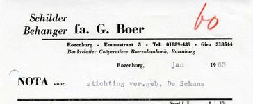 RZ_BOER_003 Rozenburg, Boer - fa. G. Boer, Schilder Behanger, (1963)