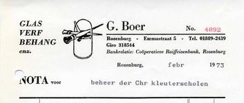 RZ_BOER_005 Rozenburg, Boer - G. Boer, Glas, Verf, Behang enz., (1973)