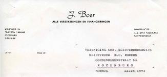 RZ_BOER_006 Rozenburg, Boer - J. Boer, Verzekeringen en financieringen, (1973)