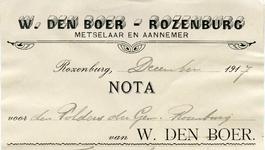 RZ_BOER_007 Rozenburg, Boer - W. den Boer, Metselaar en aannemer, (1917)