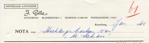RZ_GILLE_001 Rozenburg, Gille - Metselaar - Aannemer J. Gille, (1963)