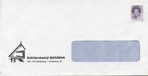 RZ_MARSMAN_003 Rozenburg, Marsman - Schildersbedrijf Marsman (ENVELOPPE), (± 1983)
