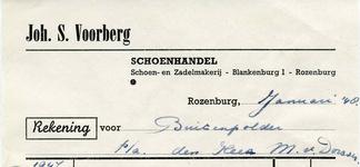 RZ_VOORBERG_002 Rozenburg, Voorberg - Schoenhandel, schoen- en zadelmakerij Joh. S. Voorberg, (1948)