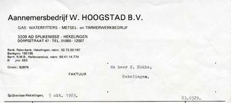 SP_HOOGSTAD_001 Spijkenisse, Hoogstad - Aanemersbedrijf W. Hoogstad B.V., Gas- waterfitters - metsel- en ...