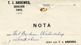 TI_ANDEWEG_001 Tinte, Andeweg - T.J. Andeweg, schilder, (1928)