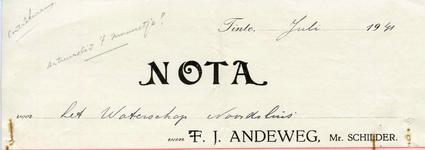 TI_ANDEWEG_002 Tinte, Andeweg - T.J. Andeweg, Mr. Schilder, (1941)