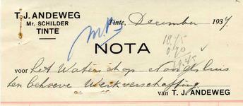 TI_ANDEWEG_004 Tinte, Andeweg - T.J. Andeweg, Mr. Schilder, (1937)
