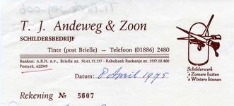 TI_ANDEWEG_006 Tinte, Andeweg - T.J. Andeweg & Zoon, schildersbedrijf. Schilderwerk 's zomers buiten, 's winters ...
