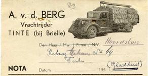 TI_BERG_001 Tinte, V.d. Berg - A. v.d. Berg, vrachtrijder, (1943)