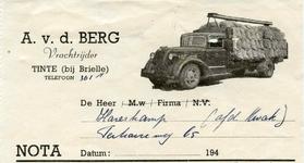 TI_BERG_002 Tinte, V.d. Berg - A. v.d. Berg, vrachtrijder, (1949)