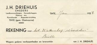TI_DRIEHUIS_002 Tinte, Driehuis - J.H. Driehuis, smederij. Landbouwwerktuigen, gereedschappen, motoren enz. ...