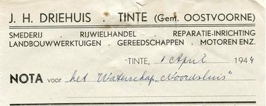 TI_DRIEHUIS_003 Tinte, Driehuis - J.H. Driehuis, Smederij, rijwielhandel, reparatie-inrichting, landbouwwerktuigen, ...