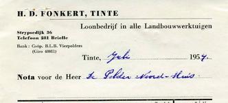 TI_FONKERT_001 Tinte, Fonkert - H.D. Fonkert, Loonbedrijf in alle landbouwwerktuigen, (1954)