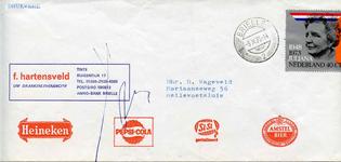 TI_HARTENSVELD_001 Tinte, Hartensveld - F. Hartensveld, Drankleverancier (ENVELOPPE), (1973)