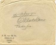 TI_RIJ_001 Tinte, Van Rij - P.W. van Rij Dz. (ENVELOPPE), (z.d)
