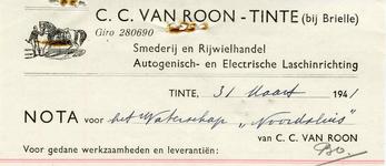 TI_ROON_004 Tinte, Van Roon - C.C. van Roon, Smederij en Rijwielhandel. Autogenisch- en Electrische laschinrichting, (1941)