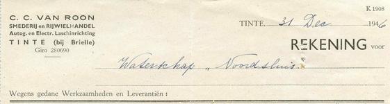TI_ROON_007 Tinte, Van Roon - C.C. van Roon, Smederij en rijwielhandel. Autogenische en electrische laschinrichting, (1946)